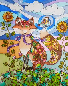 Lori's Art Garden by Lori Gardner Wood colored by Betty Hung