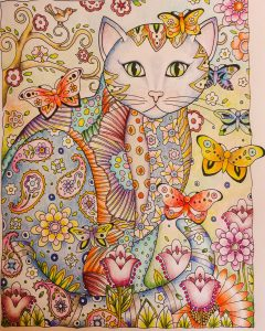 Coloring of Majorie Sarnat's Creative Cats by Betty Hung
