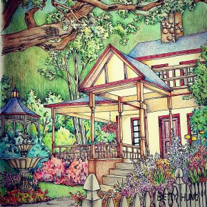 Coloring of Debbie Macomber's Come Home to Color by Betty Hung