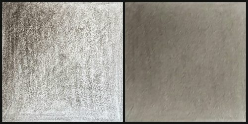 Before and after paper towel blending