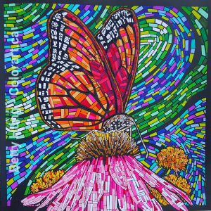 Mosaic coloring by Betty Hung from the Mosaic Art Coloring Book