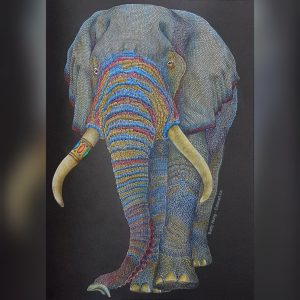 Elephant from Intricate Ink - Animals in detail by Tim Jeffs colored by Betty Hung