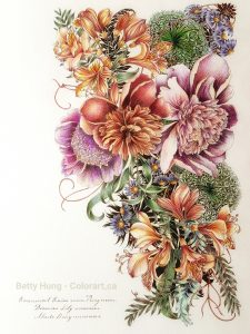 Floribunda by Leila Duly colored by Betty Hung - colorart.ca