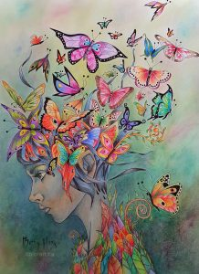 """""""Release"""" - Ayahuasca Jungle Visions by Alexander Ward colored by Betty Hung colorart.ca"""