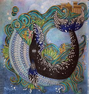 """""""Jonah & the Whale 1:17"""" Soulcoats Restoration, colored by Betty Hung - colorart.ca"""