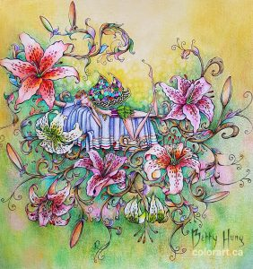 Fairies in Dreamland by Denyse Klette, colored by Betty Hung - colorart.ca
