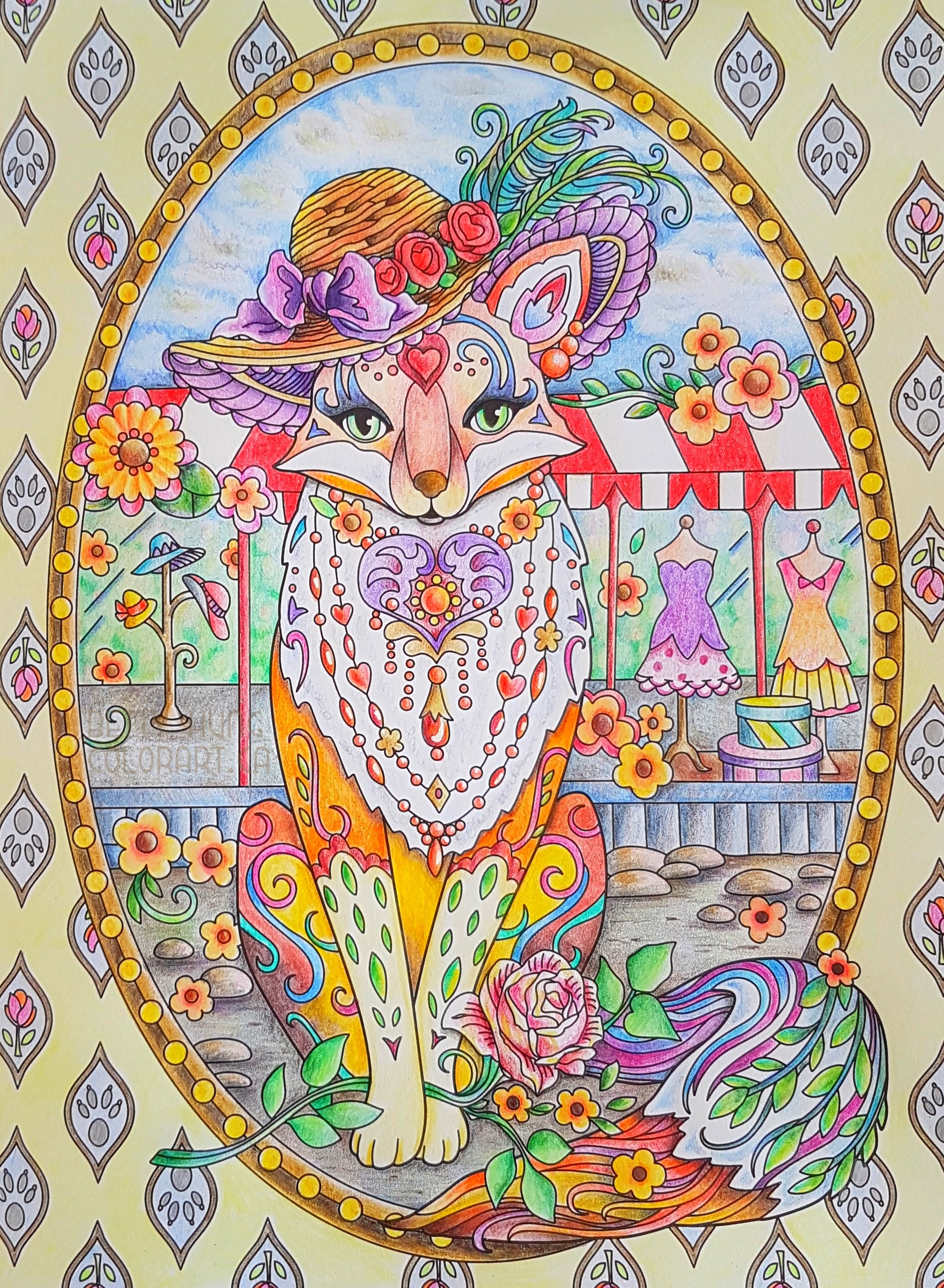 Fanciful foxes by Marjorie Sarnat colored by Betty Hung