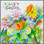 Easter coloring card designed and colored by Betty Hung