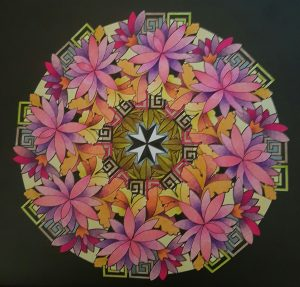 Mandala in colors inspired by a scarf
