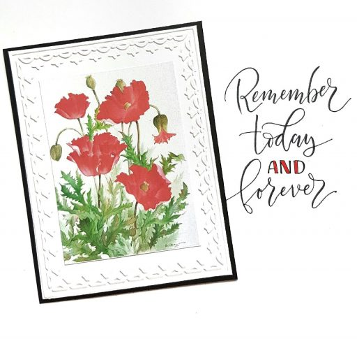 Watercolor poppies greeting card by Betty Hung