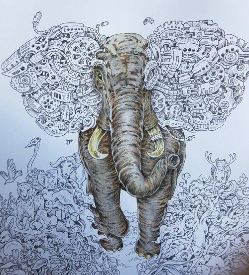 Runaway elephant - before embellishment