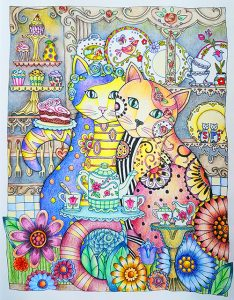 Creative Cats colored by Betty Hung