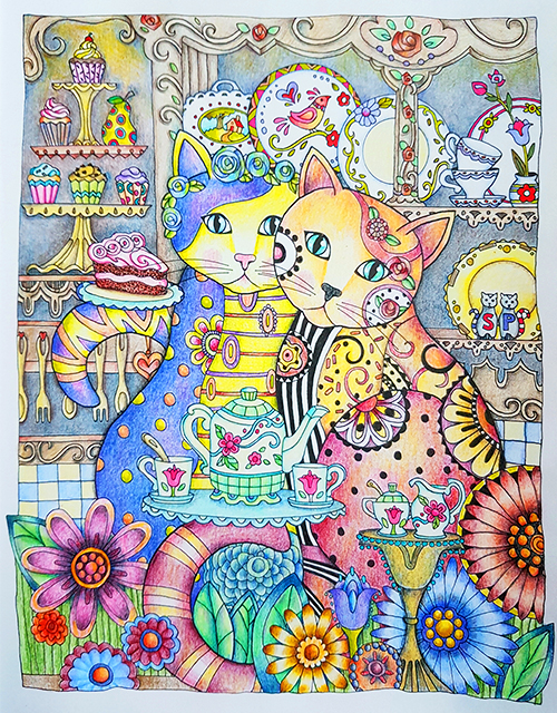 Color Layering with the Creative Cats