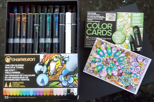 Picture of Chameleon pens and coloring cards