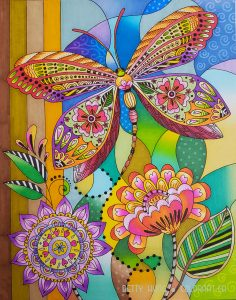 Lori's Art Garden by Lori Gardner Woods colored by Betty Hung