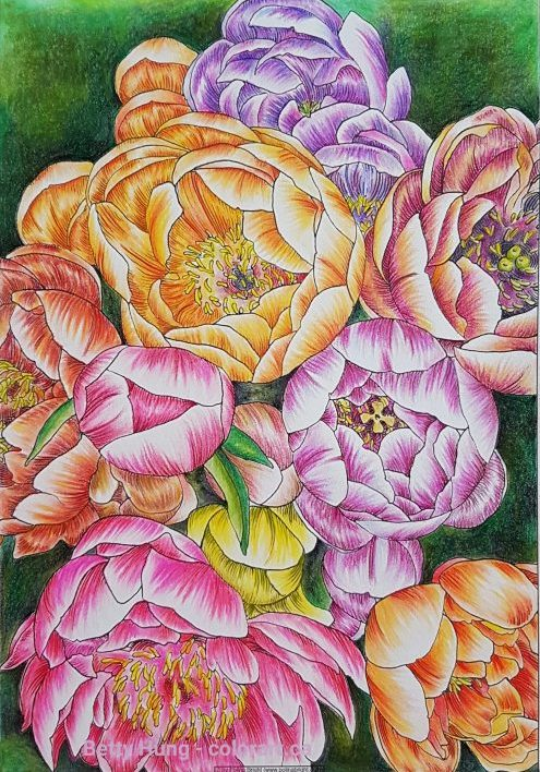 Coloring with Pastel Pencils