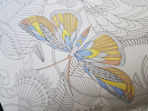 An example of single flat color technique using Tombow dual brush pens
