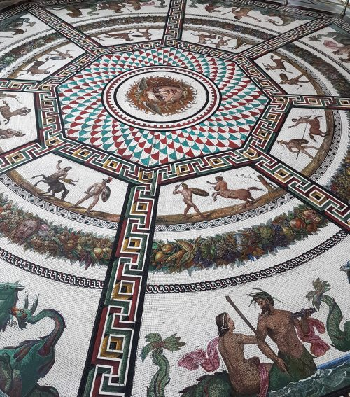 Picture of a Mosaic design in the Hermitage, St. Petersburg