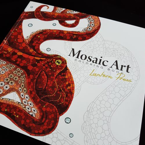 picture of the Mosaic Art coloring book by Lantern Press