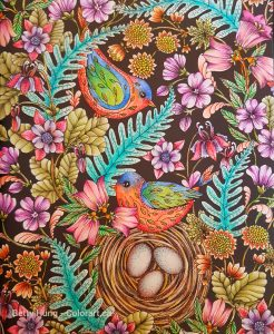 Twilight Garden by Maria Trolle colored by Betty Hung