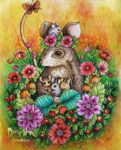 A Mother's Love from Twilight Garden by Maria Trolle, colored by Betty Hung - colorart.ca