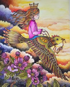 """Fly Free"" from Daydreams by Hanna Karlzon, colored by Betty Hung - colorart.ca"