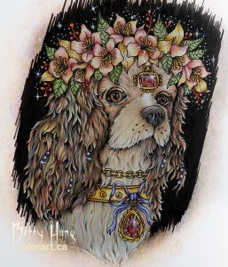 """King Spaniel"" From Smyckeskrinet by Hanna Karlzon colored by Betty Hung - colorart.ca"