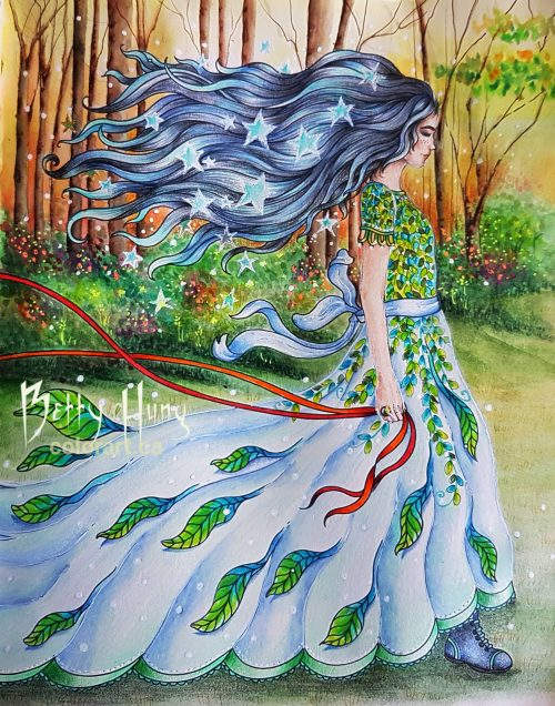 """Forest Dawn"" from Magical Dawn by Hanna Karlzon colored by Betty Hung - colorart.ca"