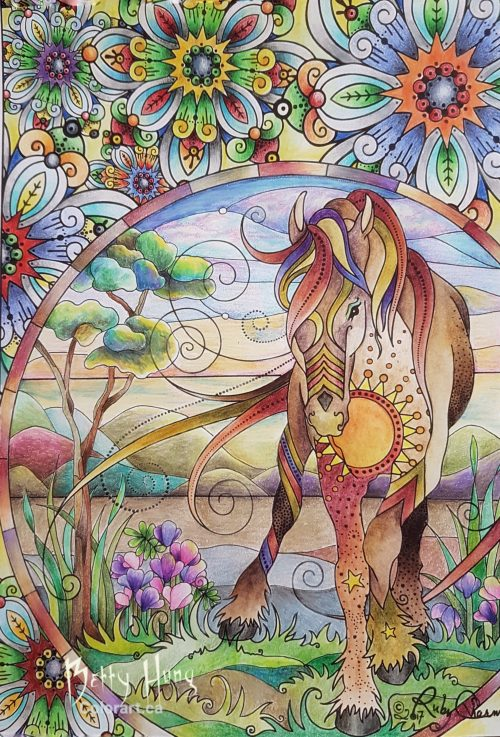 Horse from Ruby Charm Colors Collection by Susan Carlson colored by Betty Hung - colorart.ca