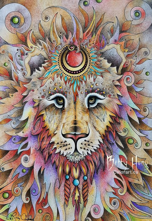 Lion From Ruby Charm Colors Collection by Susan Carlson colored by Betty Hung - colorart.ca