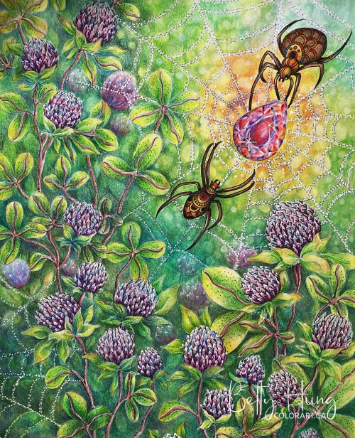 Spiders from Summer Nights by Hanna Karlzon colored by Betty Hung - colorart.ca